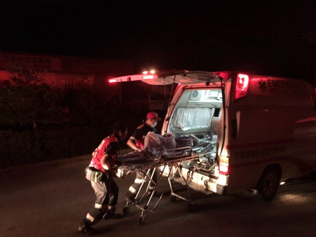 千葉県及び茨城県DMAT隊と共に夜通しピストン搬送を行いました。